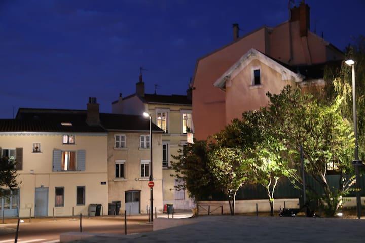 Le quartier vu du soir