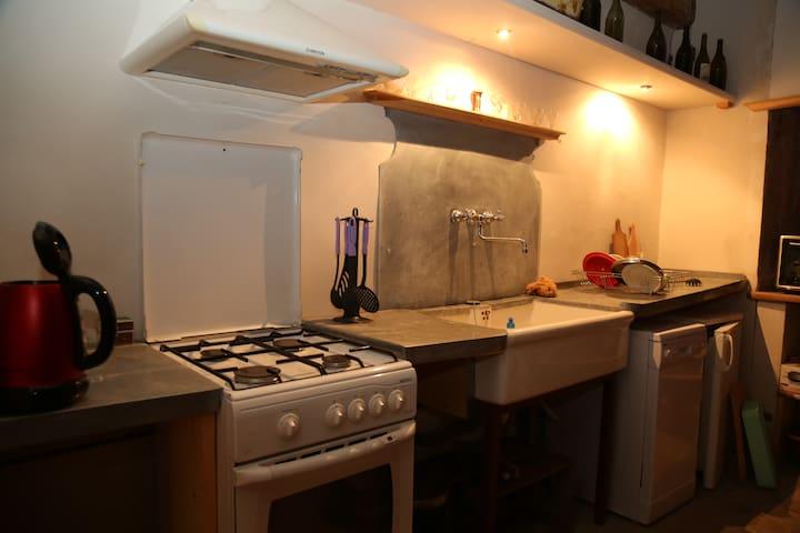Détail des aménagements de la cuisine