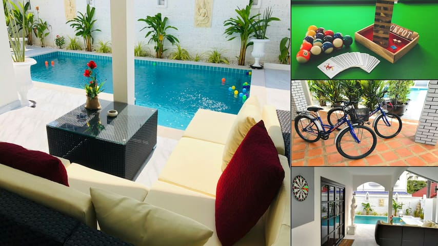 Villa near beach with easy acces to Walking Street