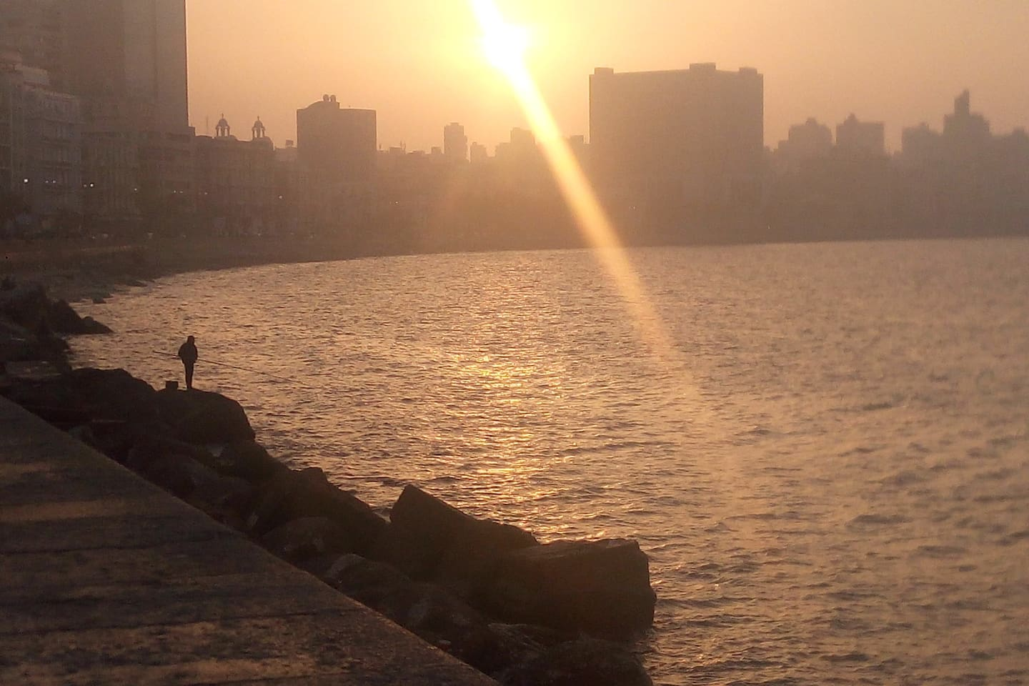 This pic is more about Alex.not our view...but we are Only 2 minutes walk to the lovely scenery of Alexandria seashore