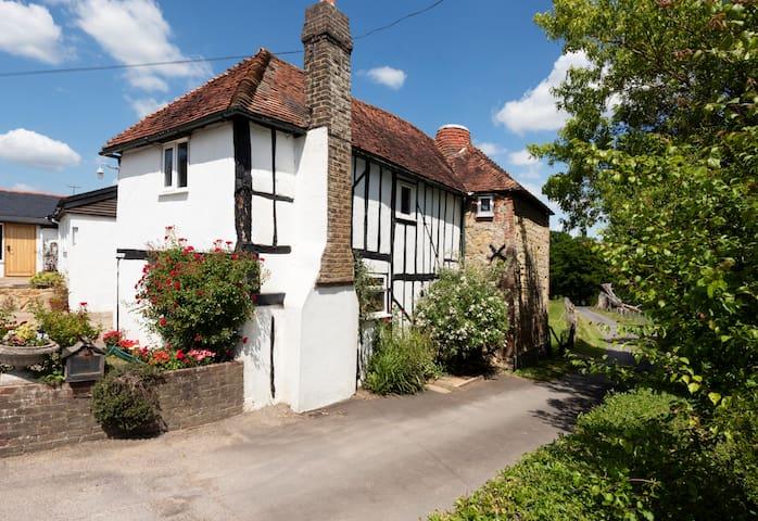 Historic Oast house on farm comfortably modernised