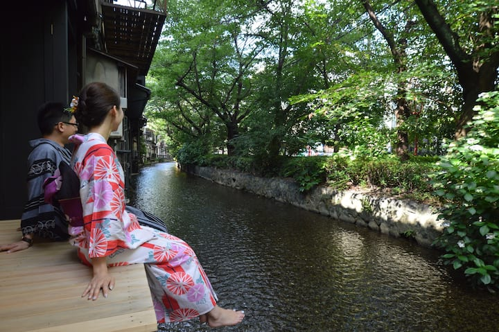☆COZY Machiya Right by River★PERFECT for a Couple☆
