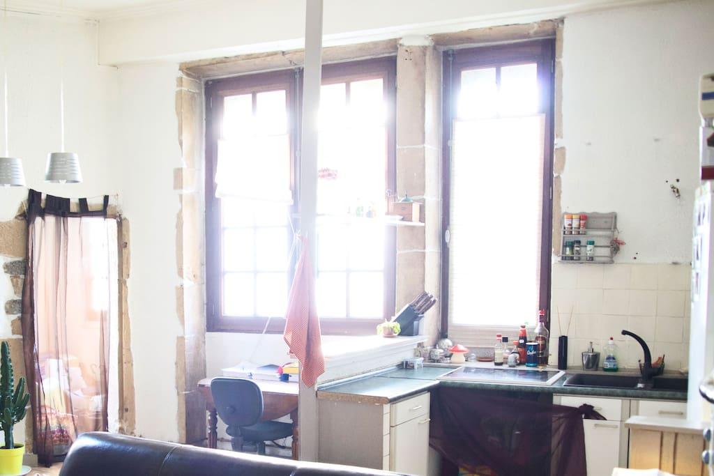 Atypique centre de lyon lumi res appartements louer for Appartement atypique lyon 2