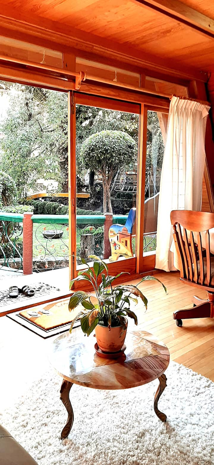Opa's cozy cottage, an oasis in Mexico City