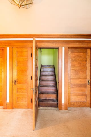 Head up these stairs and you'll be in your new happy place!