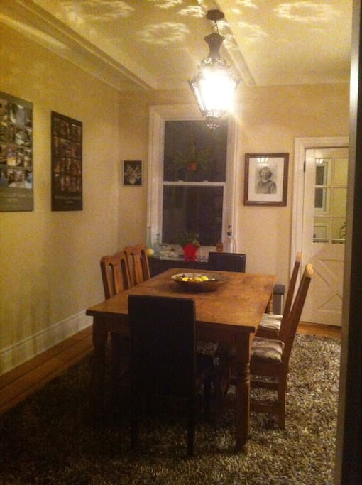 Cozy dinner for two or meet some of my friends -- many dinner parties have been held here