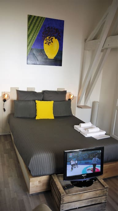studio centre touristique tout confort calme wifi lofts louer cahors occitanie france. Black Bedroom Furniture Sets. Home Design Ideas