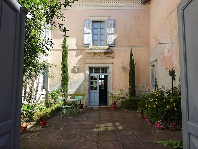 Suite privative dans une belle villa des Landes - Montaut - Guesthouse