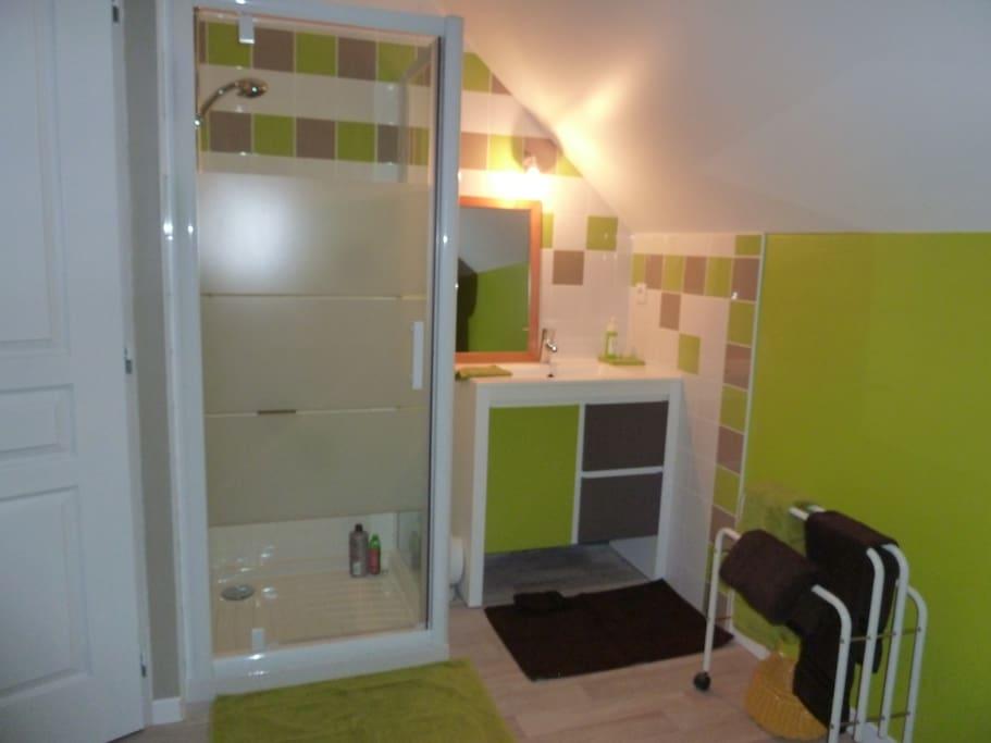 Salle de bain de la chambre 1.