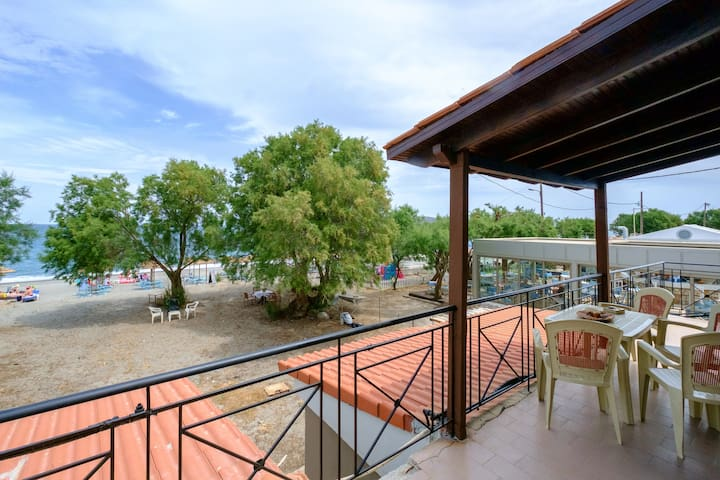 Seafront Paradise with sand Yard 10 m. from Beach!