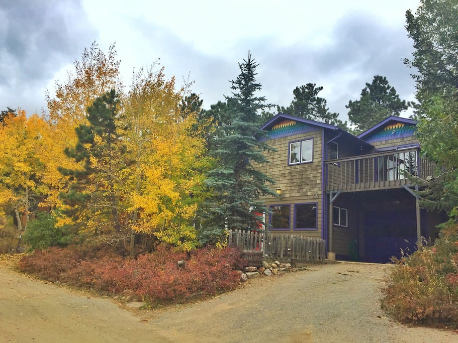 Relaxing rainbow mountain cabin houses for rent in for Nederland cabin rental