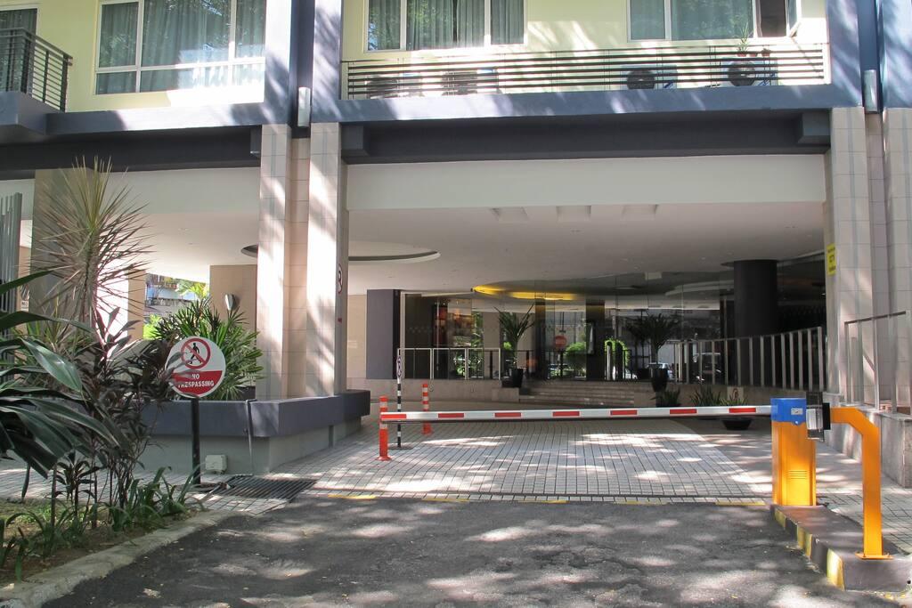 The main entrance公寓的入口處