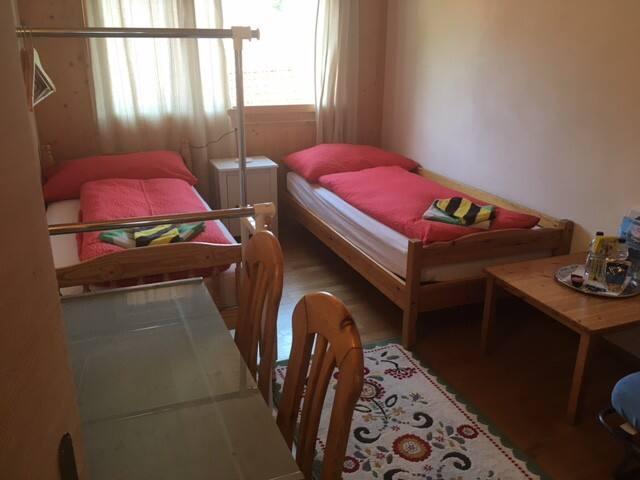 Red Room mit zwei Einzelbetten
