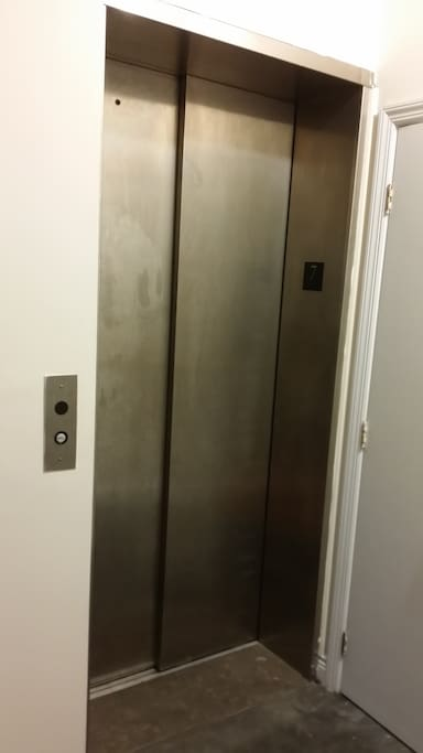 Keyed elevator entry.  A special keylocked elevator opens directly into the penthouse.