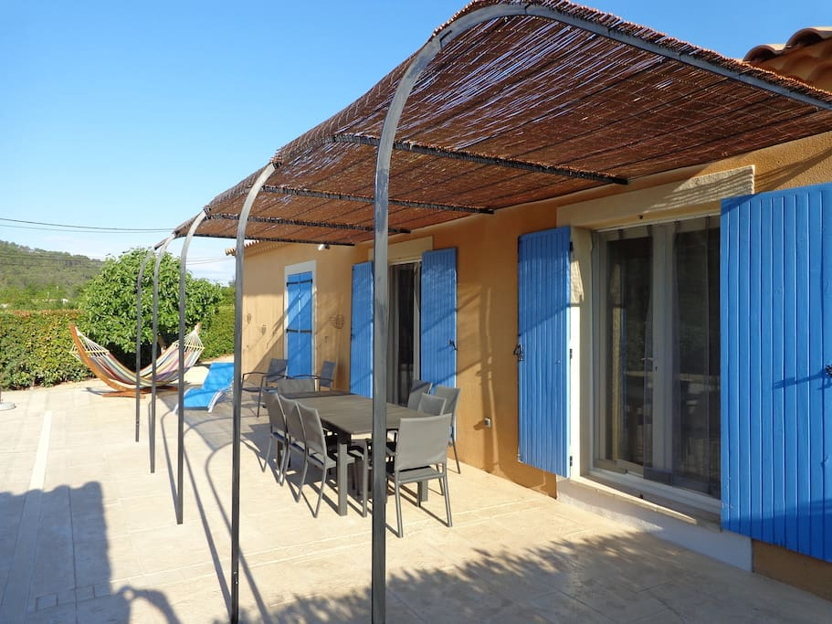 A nice pergola on the terrace offering shade most of the day.