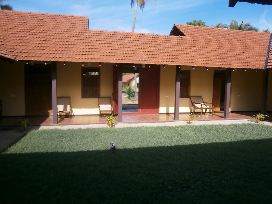 Exclusive view of centre Courtyard of the 4 Ensuite- Room Villa...!