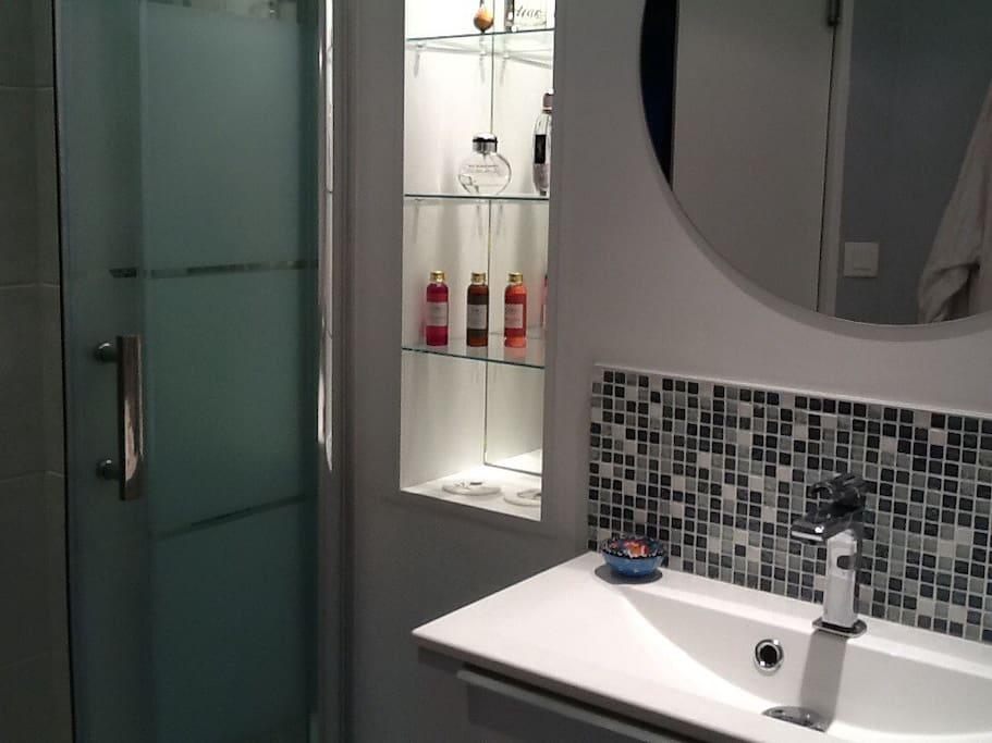 salle de bain privative des voyageurs
