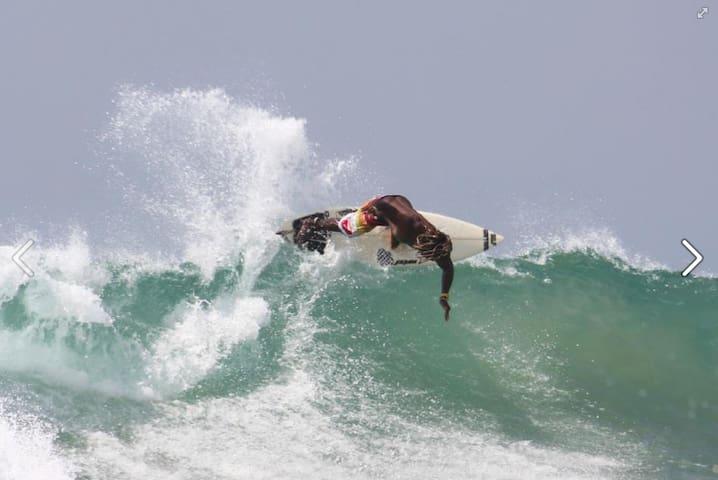World-class surf during high-season in Hikkaduwa.