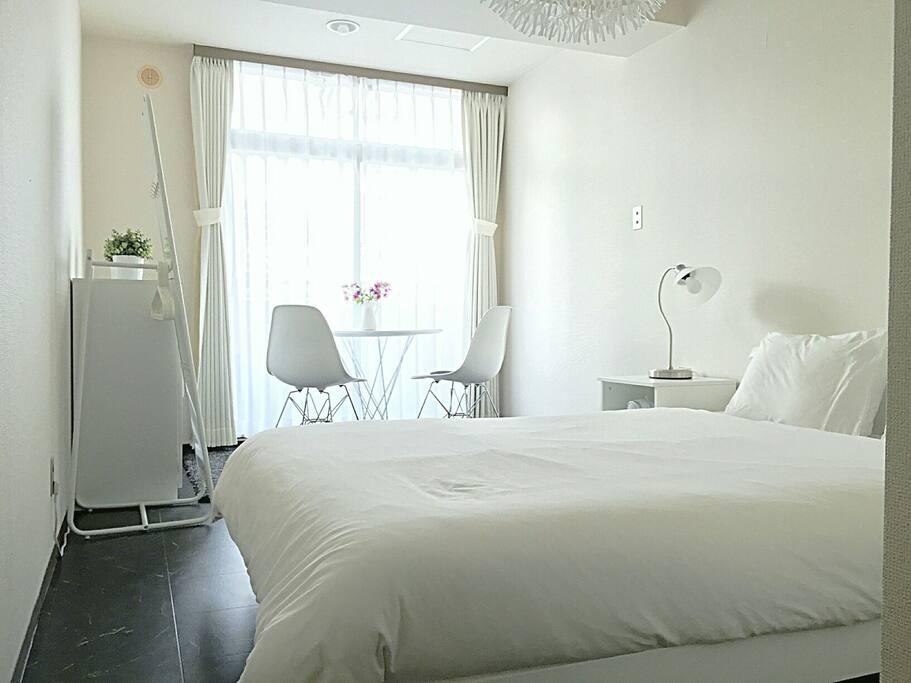 Double size Bed H 198cm W 140cm