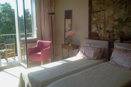 Bed& br. luxury,greenery, twin beds - Neuilly-sur-Seine