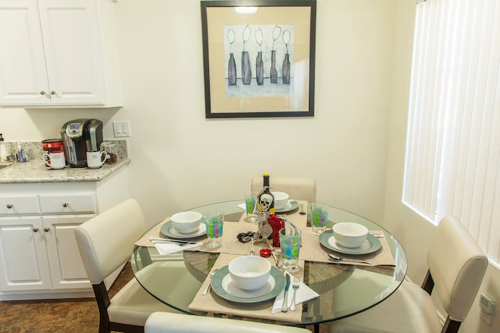 Enjoy a nice meal in the dining area!