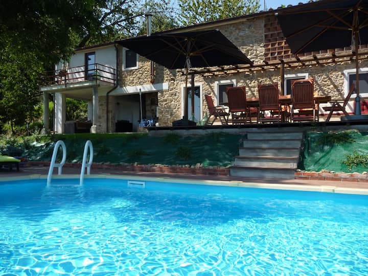Private pool, views. Near Lucca Pisa Florence