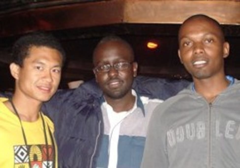 jason (taiwnaese), erick (pivs founder), and me at canivore restaurant