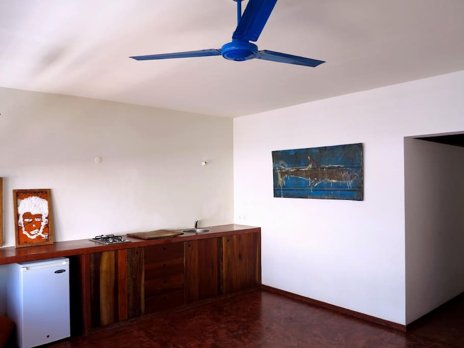Living area: the kitchenette.