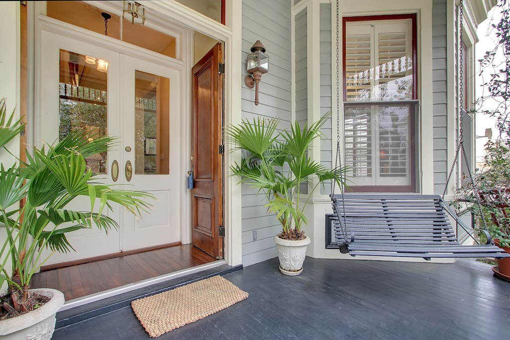 Front porch to sit and enjoy the neighborhood