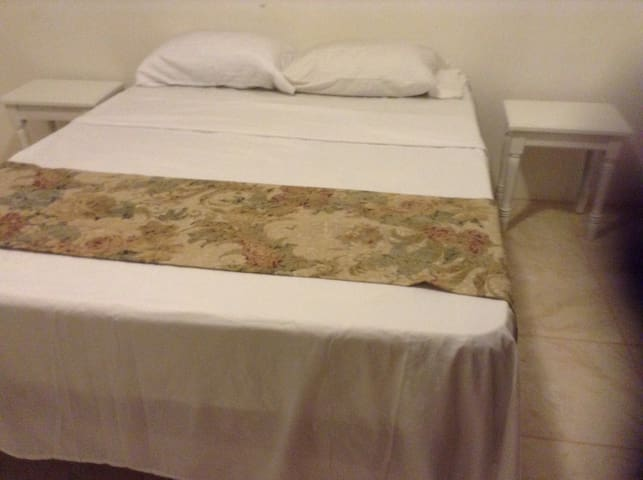 Comfy and newly acquired  mattresses, also new white bedding.