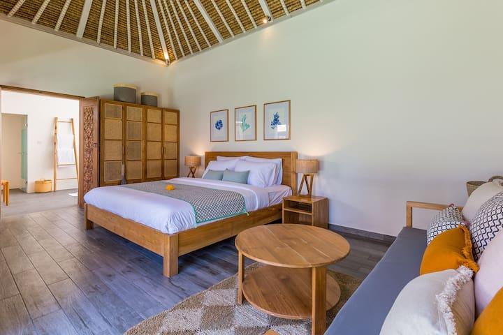 appreciate the 5 spacious air-conditioned rooms
