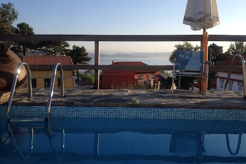 Spacious holiday home near the sea and boulevard in Oleiros with private pool