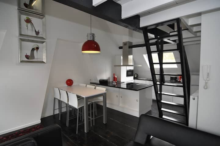 Duplex Studio near historical center Ghent