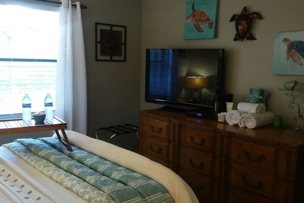 "46"" Flat Screen TV with DVR So You Can Record What You Don't Want To Miss & Of Course Wifi  and Cable"