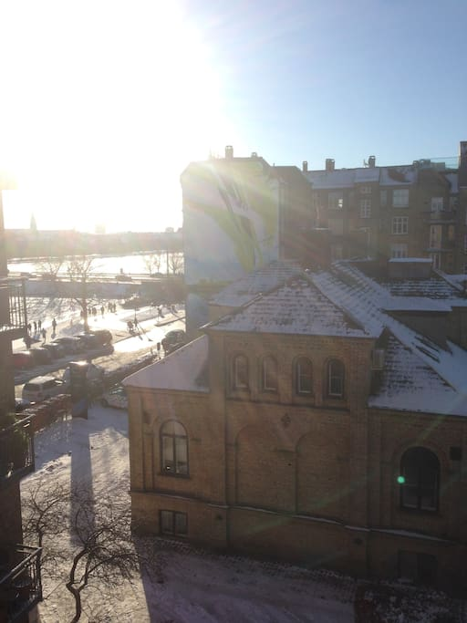 Winter view from western balcony