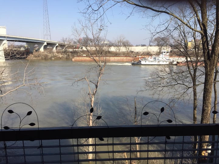 Downtown Nashville Riverfront Condo and pool