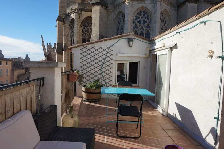 The terrace of the Cathedral - Narbonne - Appartement