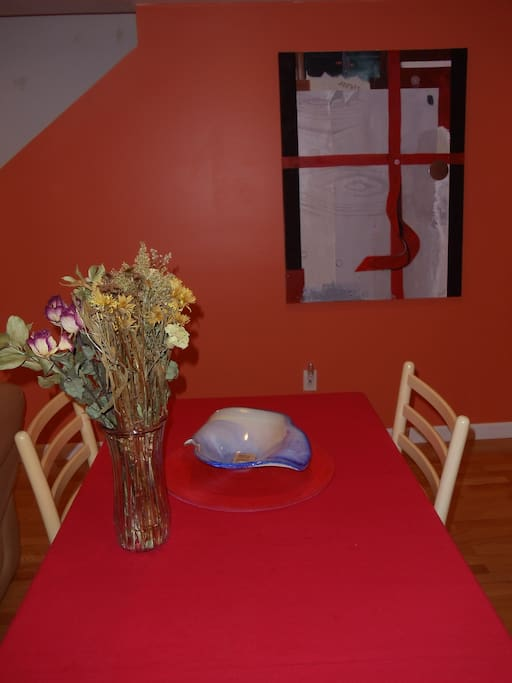 Wall Art and Dining Room Table