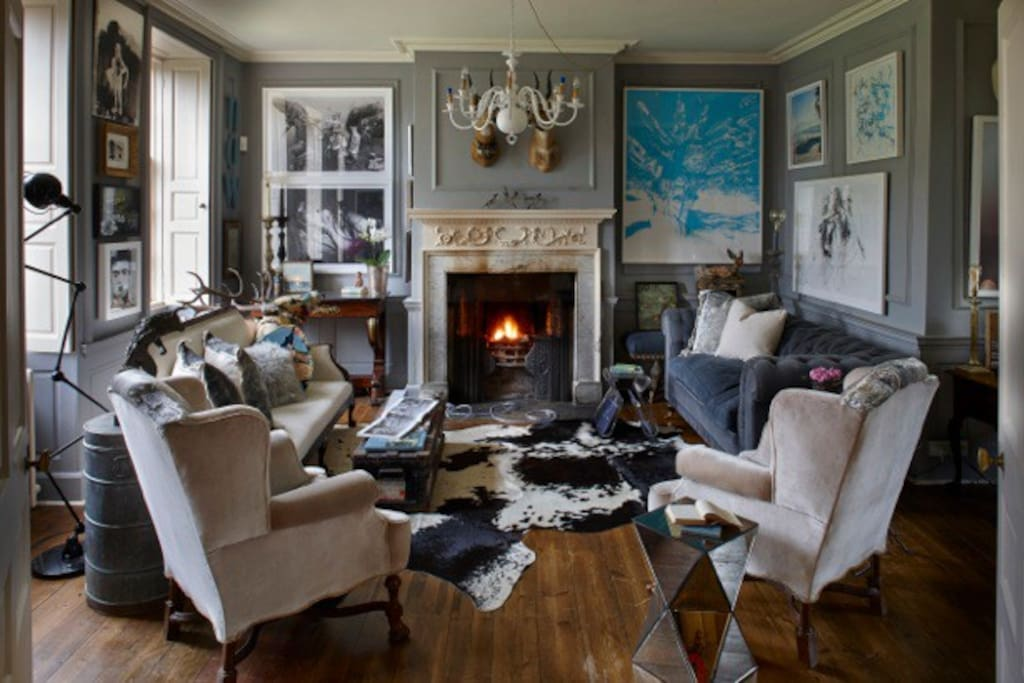 Gallery Beautiful is adorned with original antiques and striking contemporary art : photo by Iain Kemp