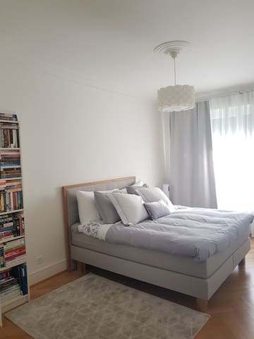 Master bedroom in a modern flat. Central location