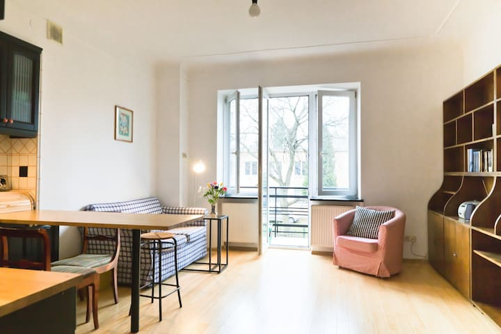 Gorgeous, sunny apartment. Gorgeous, trendy area. - Varsóvia - Apartamento