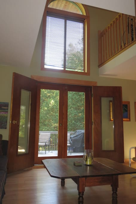 French doors out to the back porch.