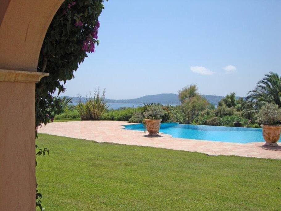 Accès piscine et jardin