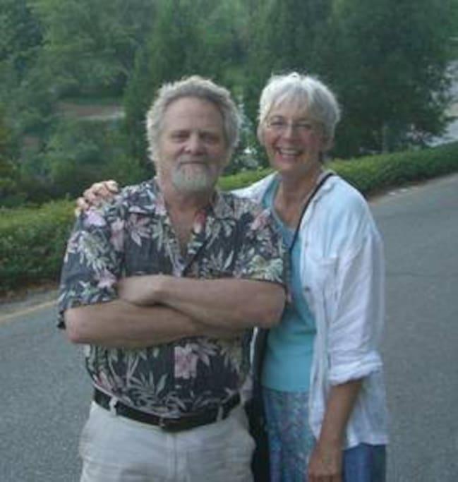 Your hosts Nik & Barbara