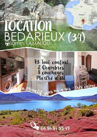 lamalou et sa région les gorges d 'héric  avéne - Bédarieux - Appartement