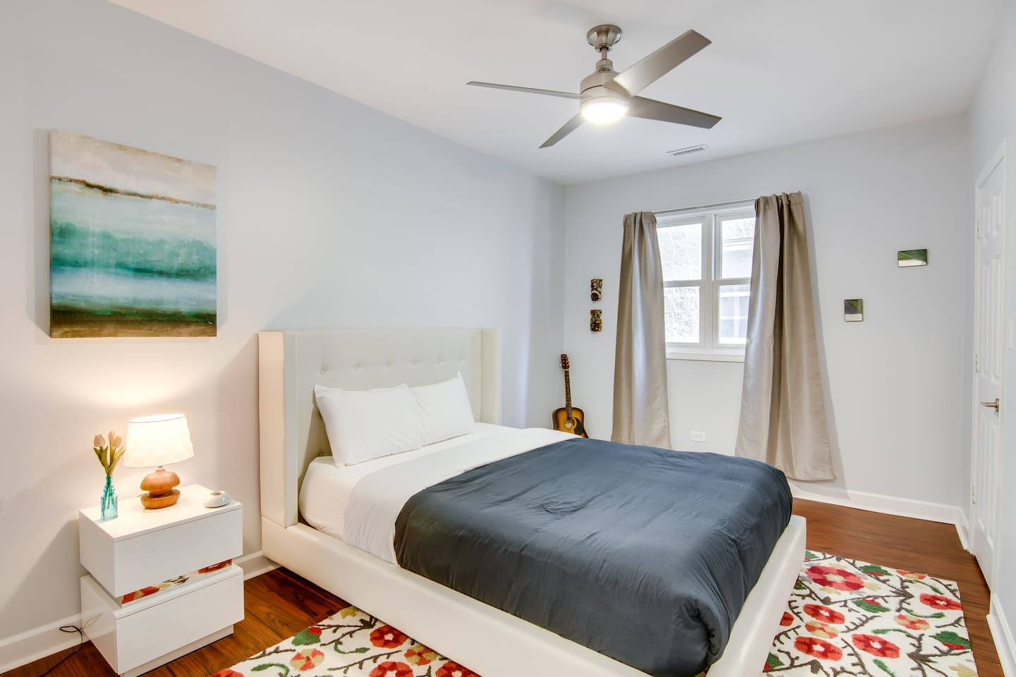 Toward the rear of the apartment is the third bedroom, with another Queen bed; each of our bedrooms has a ceiling fan and sizeable closet