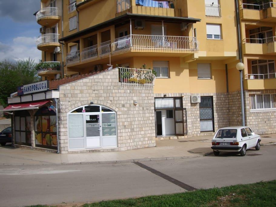 Supermarket next to the apartment