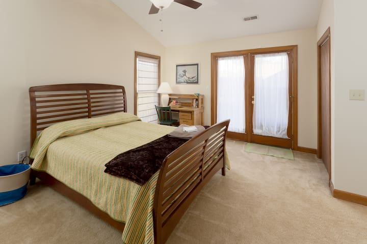 Bedroom #1, lots of natural light, queen bed, 2 closets.