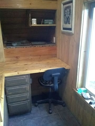 Desk and Workspace Upon Entry