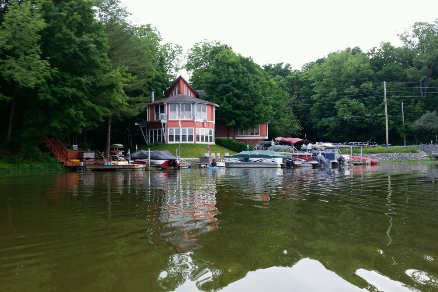 Melby manor on Morse lake
